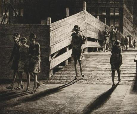 "Martin Lewis's ""Fifth Avenue Bridge"" from 1928."